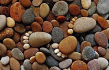 Stones arranged to form little feet
